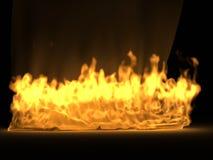 Het gordijn van de zijde in de brand Royalty-vrije Stock Foto's