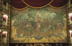Het gordijn van het Huis van de Opera van Manaus royalty-vrije stock foto