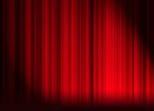 Het gordijn van het theater Stock Foto's