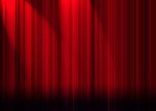 Het gordijn van het theater Stock Fotografie