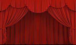 Het gordijn van het theater. stock fotografie