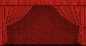 Het gordijn van het theater. Royalty-vrije Stock Fotografie