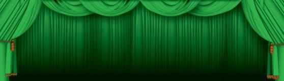 Het gordijn van het theater Stock Afbeeldingen