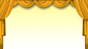 Het gordijn van het theater royalty-vrije illustratie
