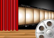 Het gordijn van het theater Stock Afbeelding
