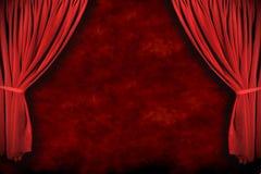 Het Gordijn van het Theater van het stadium met Dramatische Verlichting Royalty-vrije Stock Foto