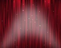 Het Gordijn van het theaterstadium stock afbeelding