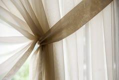 Het gordijn van het venster Royalty-vrije Stock Afbeeldingen