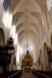 Het gotische binnenland van de Kerk Stock Fotografie