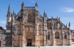 Het gotische klooster van Batalha in Portugal. Stock Fotografie