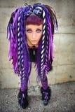 Het gotische meisje van Cyber Royalty-vrije Stock Afbeelding
