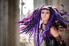 Het gotische meisje van Cyber Royalty-vrije Stock Foto's