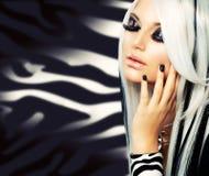 Het Gotische Meisje van de Manier van de schoonheid Royalty-vrije Stock Afbeeldingen