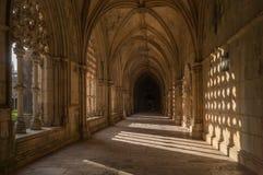 Het gotische middeleeuwse Dominicaanse Klooster van Batalha, Portugal Stock Fotografie