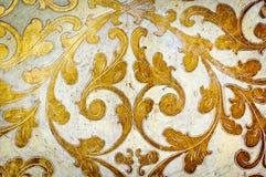 Het goud bloeit ontwerp Witte achtergrond stock foto