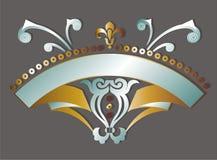 Het goud en het zilver bloeien royalty-vrije illustratie