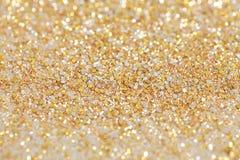Het Goud en het Zilver van het Kerstmisnieuwjaar schitteren achtergrond Vakantie abstracte textuur Royalty-vrije Stock Foto