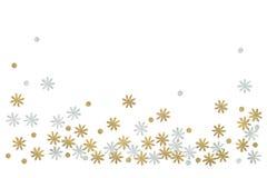 Het goud en het zilver schitteren bloemdocument op witte achtergrond wordt gesneden die royalty-vrije stock foto's
