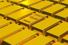 Het goud geeft terug Stock Afbeelding