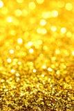 Het goud/Geel schittert Stock Afbeeldingen