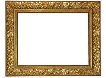 Het goud plateerde houten frame Royalty-vrije Stock Afbeelding