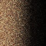 Het goud schittert achtergrond met fonkeling glanst lichte confettien Vector schitterende zwarte achtergrond Gouden flikkeringste royalty-vrije illustratie