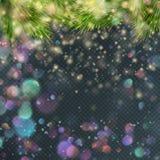 Het goud schittert deeltjesachtergrond Eps 10 stock illustratie