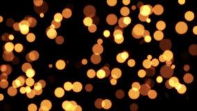 Het goud schittert Dots Background stock footage