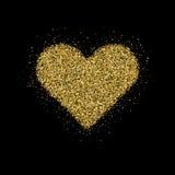 Het goud schittert Kerstboom vector illustratie