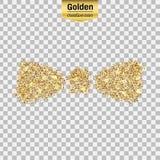 Het goud schittert pictogram Royalty-vrije Stock Fotografie