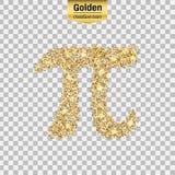 Het goud schittert pictogram Royalty-vrije Stock Afbeeldingen