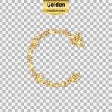 Het goud schittert pictogram Stock Foto's