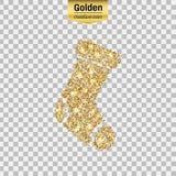 Het goud schittert pictogram Stock Afbeeldingen