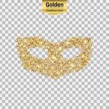 Het goud schittert pictogram Stock Afbeelding