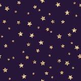 Het goud schittert sterren naadloos patroon stock illustratie