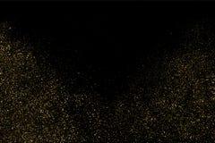 Het goud schittert textuurvector Stock Fotografie