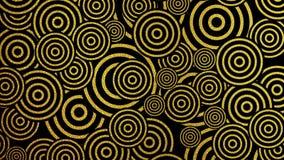 Het goud schittert uitstekende cirkels videoanimatie vector illustratie