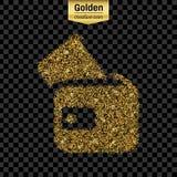 Het goud schittert vectorpictogram Stock Foto's