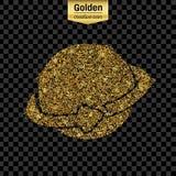 Het goud schittert vectorpictogram Royalty-vrije Stock Afbeeldingen