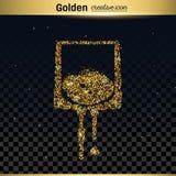 Het goud schittert vectorpictogram Royalty-vrije Stock Fotografie
