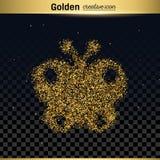 Het goud schittert vectorpictogram Stock Afbeelding