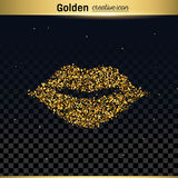 Het goud schittert vectorpictogram Stock Afbeeldingen