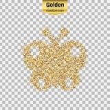 Het goud schittert voorwerp Stock Fotografie