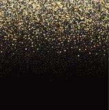 Het goud schittert zwarte achtergrond vector illustratie