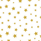 Het goud speelt vector naadloos patroon mee Stock Foto