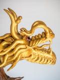 Het goud van de draak Chinese kleur maakte van houten foto Stock Foto's
