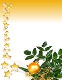 Het goud van de kerstkaart royalty-vrije stock fotografie