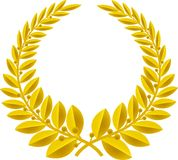 Het goud van de lauwerkrans (vector) Royalty-vrije Stock Afbeelding