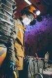 Het goud van de mijnwerkers ondergrondse mijnbouw Stock Foto