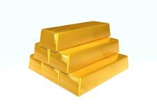 Het goud van de staaf Royalty-vrije Stock Foto's